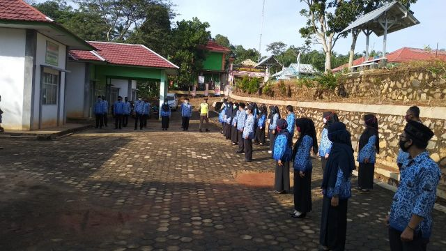 Apel Bersama Pegawai Kecamatan Pagelaran Utara dengan Sekretaris Inspektorat Kabupaten Pringsewu